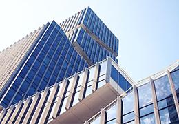 gebouw op de Zuidas in Amsterdam